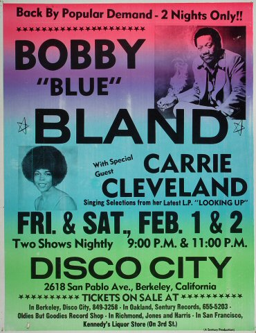 "Bobby ""Blue"" Bland Poster from Disco City : 17"" x 21 7/8"""