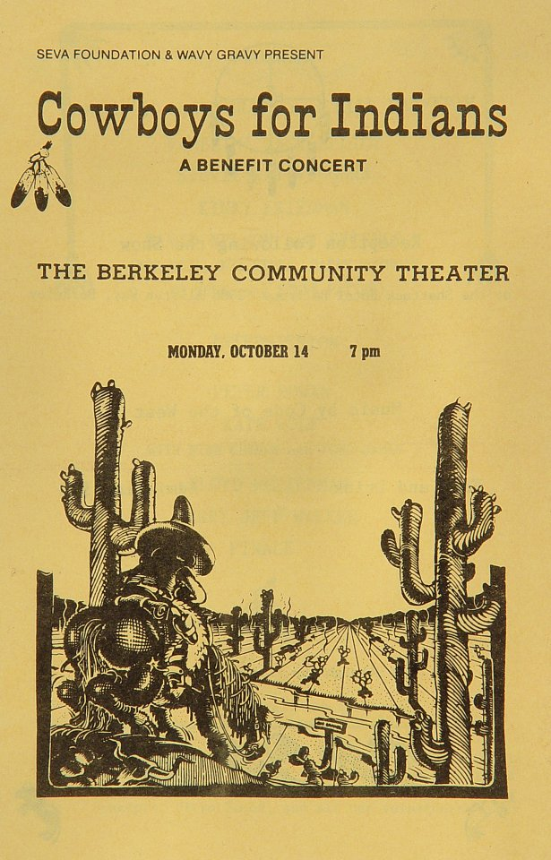 "Ramblin' Jack Elliott Program from Berkeley Community Theatre on 14 Oct 85: 5 1/2"" x 8 1/2"""
