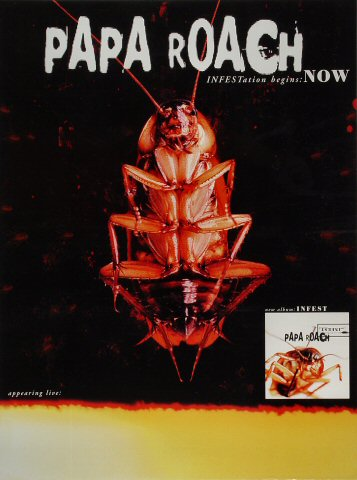 "Papa Roach Poster  : 18"" x 24"""