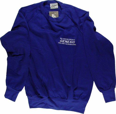 Genesis Men's Vintage Sweatshirts from Oakland Coliseum Arena on 19 Oct 86: Small