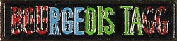 """Bourgeois Tagg Vintage Pin from Crest Theatre on 11 Dec 87: 3/8"""" x 1 1/2"""" Pin"""