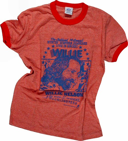 Willie Nelson Women's Retro T-Shirt  : X Large