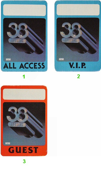 .38 Special Backstage Pass from Oakland Auditorium on 10 Jul 82: Pass 3