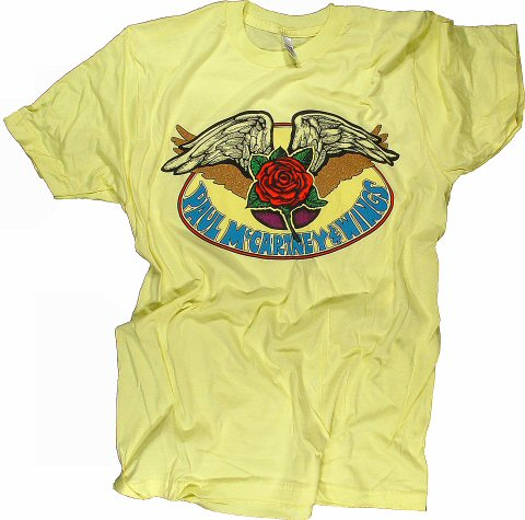 Paul McCartney & Wings Men's Retro T-Shirt from Cow Palace on 13 Jun 76: XX Large