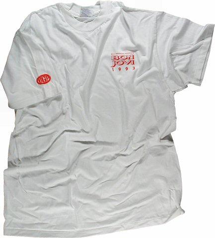 Bon Jovi Men's Vintage T-Shirt from Oakland Coliseum Arena on 14 Mar 93: X Large