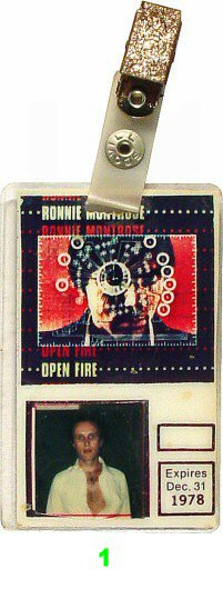 Ronnie Montrose Laminate from San Jose Convention Center on 16 Jul 78: Laminate 1