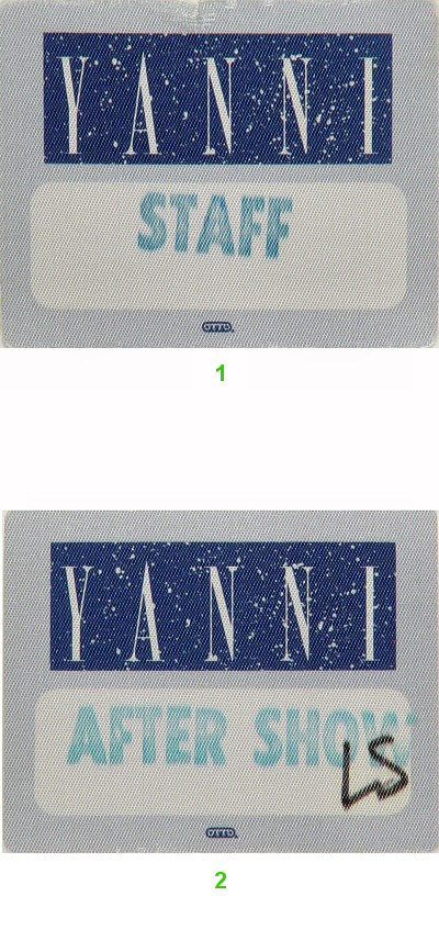 Yanni Backstage Pass  : Pass 1