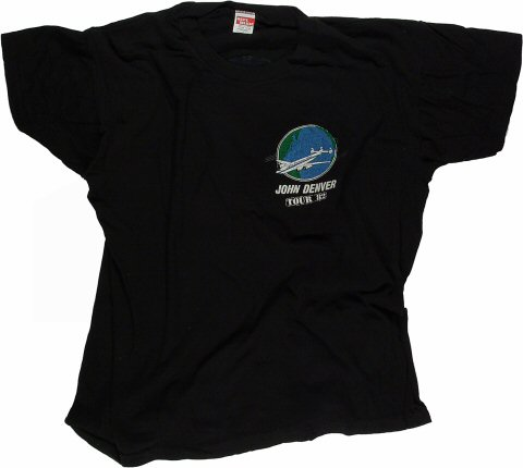 John Denver Men's Vintage T-Shirt from Greek Theatre on 02 Jul 82: Large