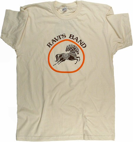 Ravi Shankar Men's Retro T-Shirt from Pacific Coliseum on 02 Nov 74: X Large