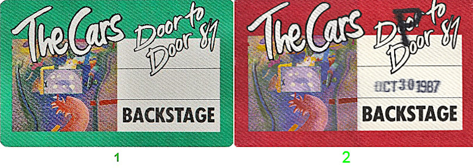 The Cars Backstage Pass  : Pass 1