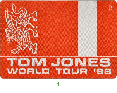Tom Jones Backstage Pass  : Pass 1