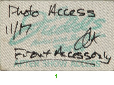 The Judds Backstage Pass  on 17 Nov 86: Pass 1
