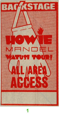 Howie Mandel Backstage Pass  : Pass 1