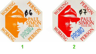 Paul Simon Backstage Pass  : Pass 1