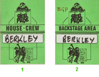 Steel Pulse Backstage Pass  : Pass 1