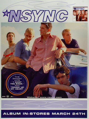 "*NSYNC Poster  : 18"" x 24"""