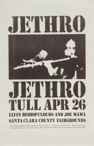 """Jethro Tull Handbill from Santa Clara County Fairgrounds : 5 5/8"""" x 8 3/4"""""""