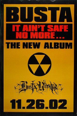 "Busta Rhymes Poster  on 26 Nov 02: 23 3/8"" x 35 1/4"""