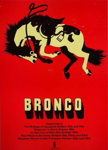 "Bronco Poster from Bodega : 16 3/4"" x 23 1/2"""