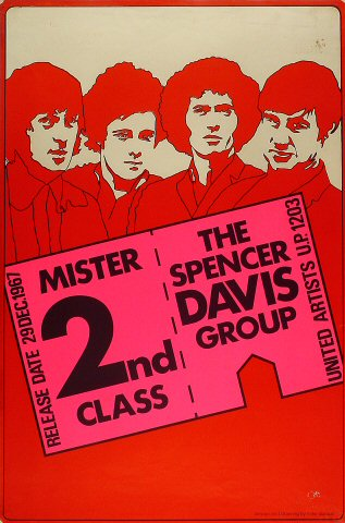 "Spencer Davis Poster  on 29 Dec 67: 20"" x 30"""