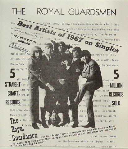 "The Royal Guardsmen Handbill  : 8 1/2"" x 9 5/8"""