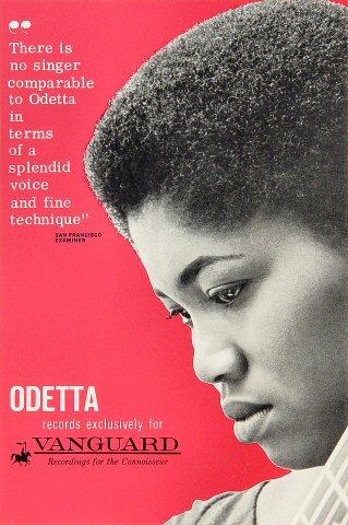 "Odetta Handbill  : 6"" x 8 3/4"""