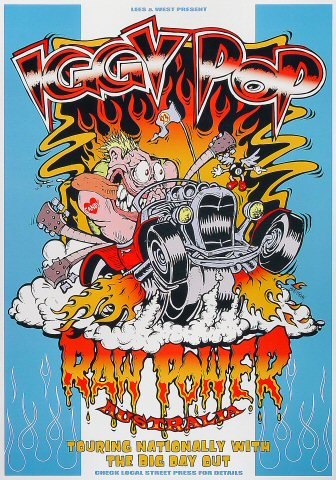 "Iggy Pop Poster  : 14"" x 20 1/16"""