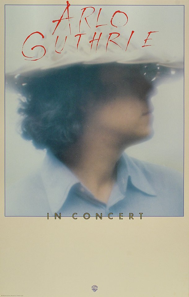 "Arlo Guthrie Poster  : 14 1/8"" x 22 1/8"""