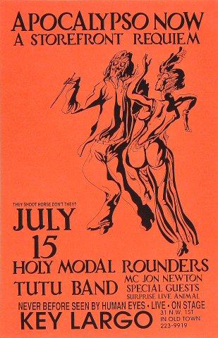 "The Holy Modal Rounders Postcard from Key Largo Restaurant & Nightclub : 5 1/2"" x 8 1/2"""