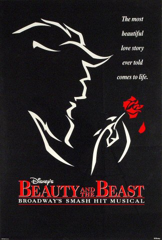 "Beauty and the Beast Poster  on 18 Apr 94: 27"" x 40"""