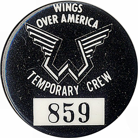Wings Vintage Pin  : 1 1/4&quot; x 1 1/4&quot; Pin