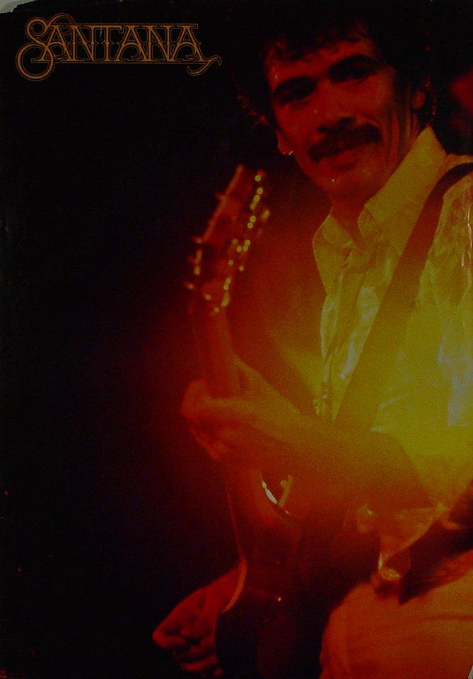 """Santana Poster  : 28 5/8"""" x 40 3/8"""""""