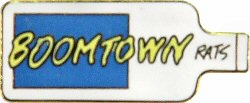 "Boomtown Rats Vintage Pin  : 1 7/16"" x 5/8"" Pin"