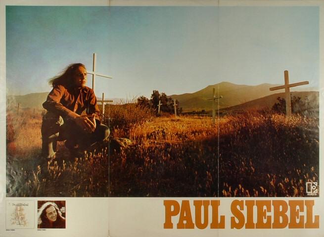 "Paul Siebel Poster  : 24"" x 33 1/2"""