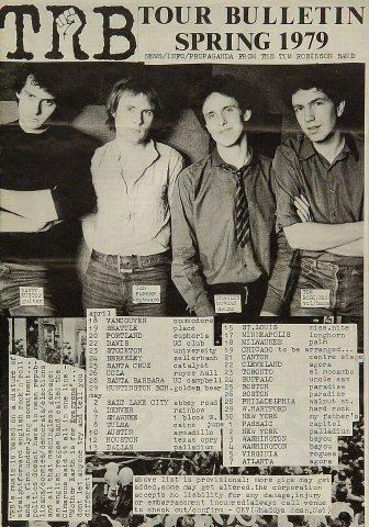 "Tom Robinson Band Program  : 8 1/4"" x 12"""