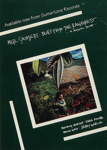 "Merl Saunders Postcard  : 4 1/4"" x 6"""