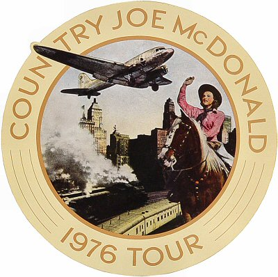 Country Joe McDonald Sticker  : Promo Sticker