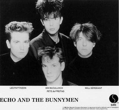 Echo & the Bunnymen Promo Print  : 8x10 RC Print