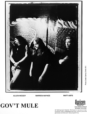 Gov't Mule Promo Print  : 8x10 RC Print