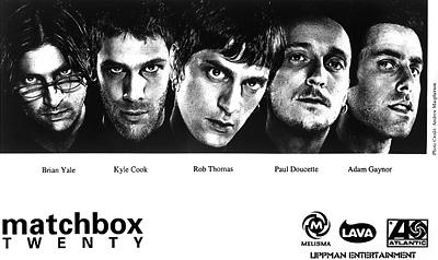 Matchbox Twenty Promo Print  : 8x10 RC Print