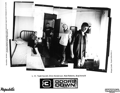 3 Doors Down Promo Print  : 8x10 RC Print
