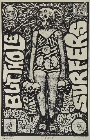"Butthole Surfers Poster from Ensemble on 02 May 90: 11"" x 17"""