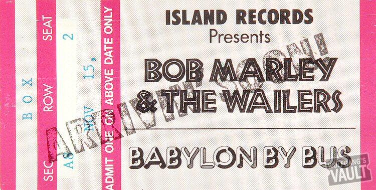 "Bob Marley and the Wailers Postcard  : 3 1/2"" x 6 3/4"""