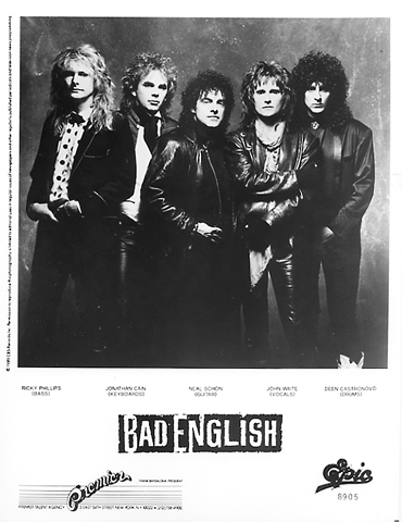 Bad English Promo Print  : 8x10 RC Print
