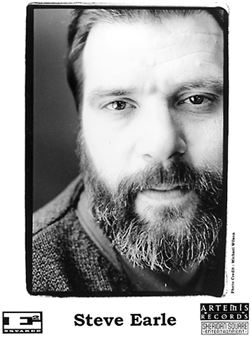 Steve Earle Promo Print  : 8x10 RC Print