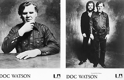 Doc Watson Promo Print  : 8x10 RC Print