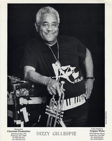 Dizzy Gillespie Promo Print  : 8x10 RC Print