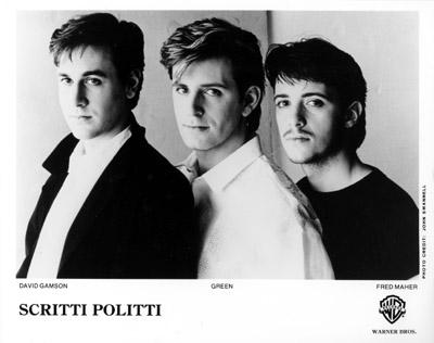 Scritti Politti Promo Print  : 8x10 RC Print