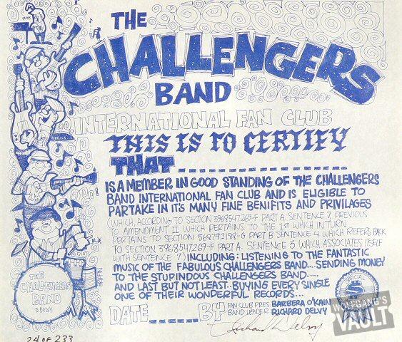 """The Challengers Handbill  : 9 7/8"""" x 11 1/2"""""""