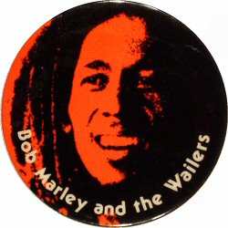 Bob Marley and the Wailers Vintage Pin  : Red
